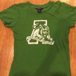 Vintage Abercrombie Green T shirt Sz Small